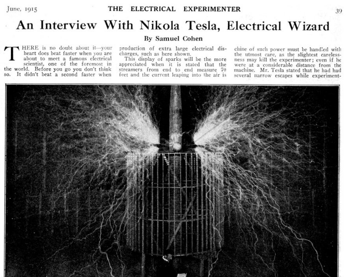 «Electrical Experimenter» de Junio de 1915