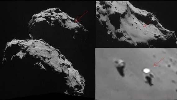 Descubren un OVNI sobre la superficie del cometa 67P