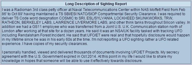 Ex Suboficial de la Marina de EE.UU. cuenta lo que vio en archivos secretos ovni
