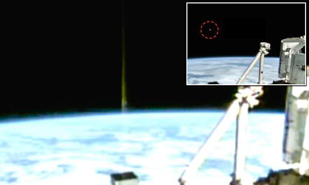 La ISS Capta Rayo de Energía Despedido de la Superficie de la Tierra hacia Un OVNI en el Espacio
