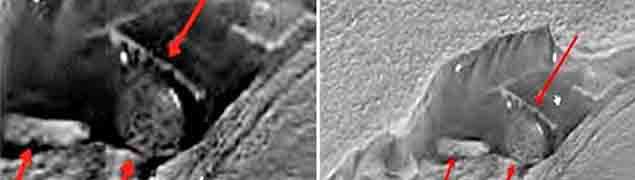 Imágenes de la NASA muestran estructuras extraterrestres en Marte