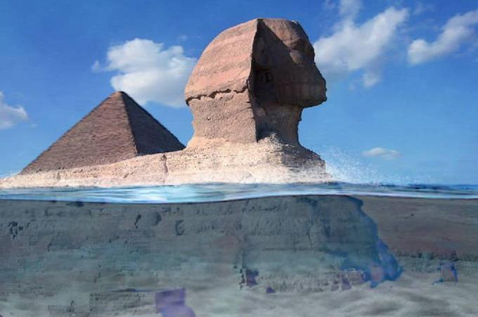 Las pirámides y la esfinge fueron construidas antes de la gran inundación