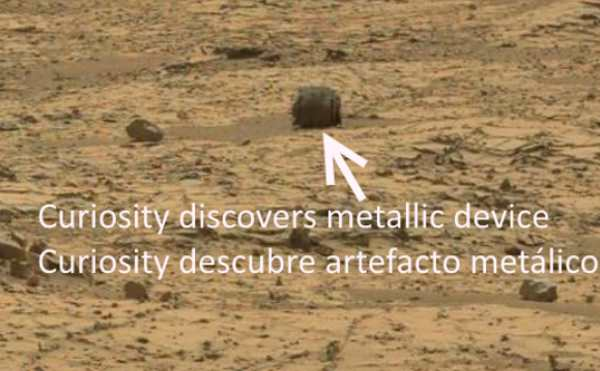 Curiosity descubre artefacto metalico