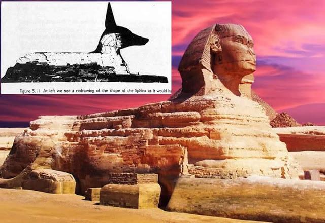 ¿Fue la Gran Esfinge originalmente una representación del dios Anubis (chacal) y luego modificada?