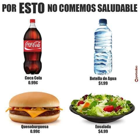 Por esto no comemos saludable