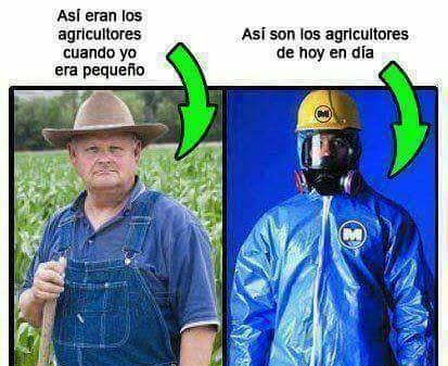 Asi eran los agricultores y como son ahora
