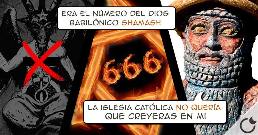 ¿666 = DEMONIO? NO. ES = DIOS SOL y la IGLÉSIA lo inventó PARA ELIMINARLO