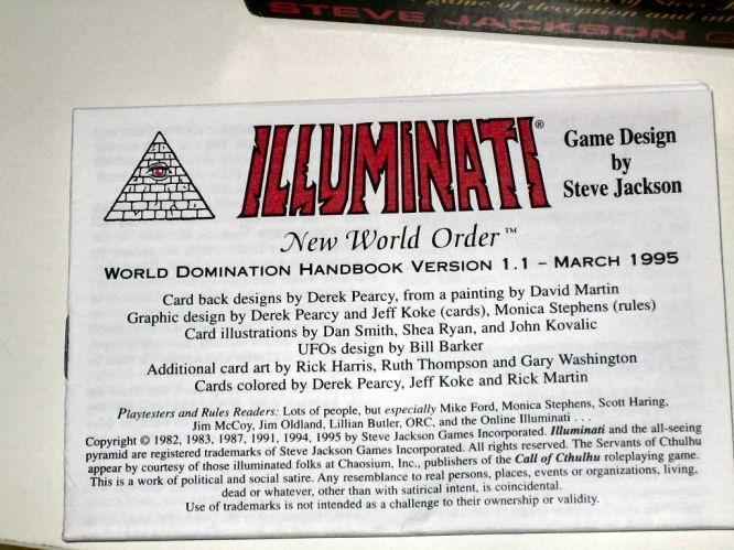 Las Cartas De Steve Jakson, Sean Ustedes Jurados ,De La Realidad De Este Juego, Creado Por Illuminatis