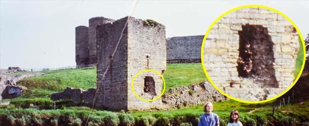 Un abuelo fotografía un arquero espectral en un castillo de Gales