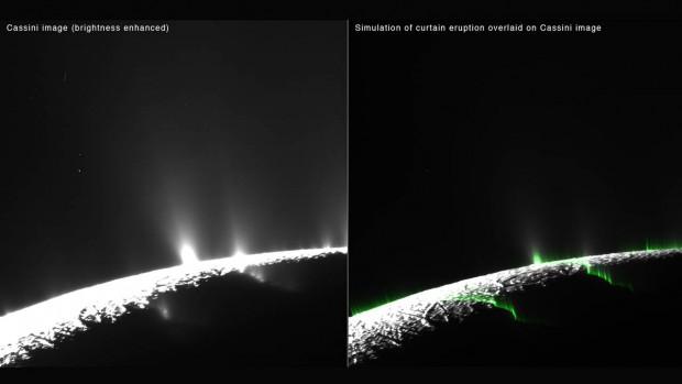 Los géiseres de Encélado pueden ser en realidad ilusiones ópticas