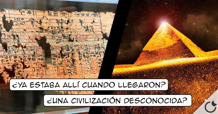 Nuevo papiro egipcio expone que la grán pirámide YA ESTABA ALLÍ cuando llegaron