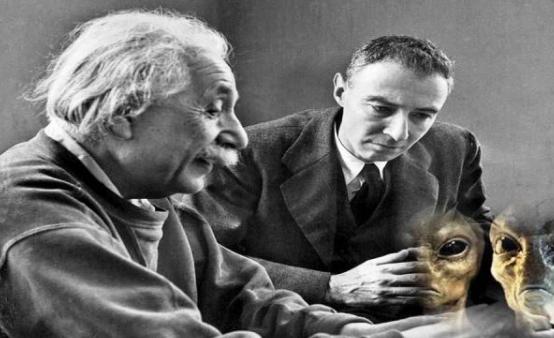 Einstein y Oppenheimer revela oficialmente la presencia de extraterrestre.