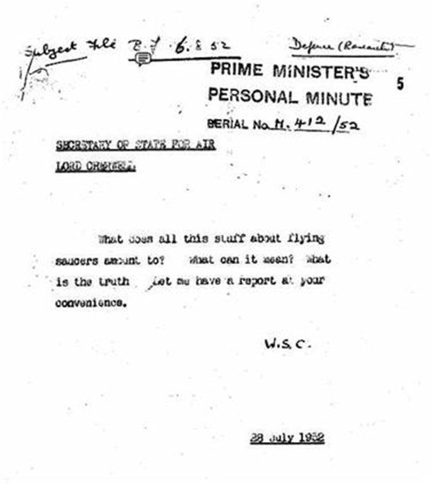 Winston Churchill encubrió un impresionante avistamiento OVNI en Inglaterra