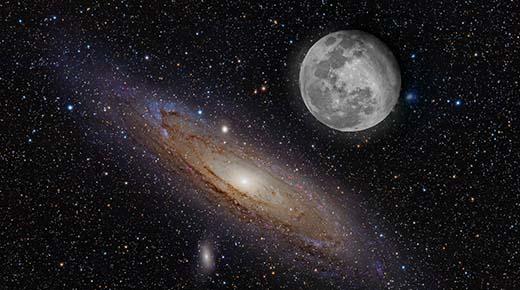 Contactado afirma que nuestra #Luna es artificial y fue traída desde otra galaxia