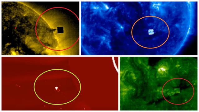 El Misterioso CUBO UFO y Naves Alíen Siguen Apareciendo en la Órbita Solar: ¿UFO o Parche de la NASA?