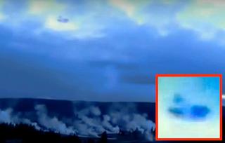 Flotilla De Ovnis Pasando Sobre El Parque Yellowstone El Super Volcan Podria Albergar Una Base Extraterrestre
