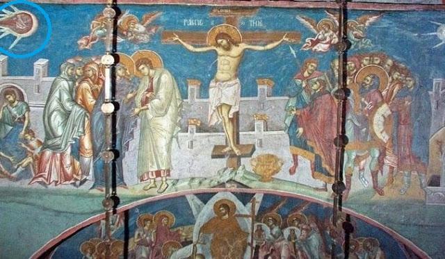 ENIGMAS: ¿Qué son esos extraños objetos en el cielo que aparecen en pinturas de la antigüedad?