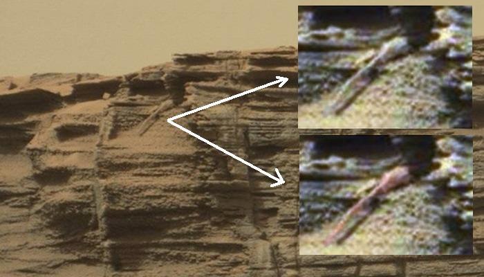 Descubren una posible lagartija entrando en una pequeña cueva en Marte