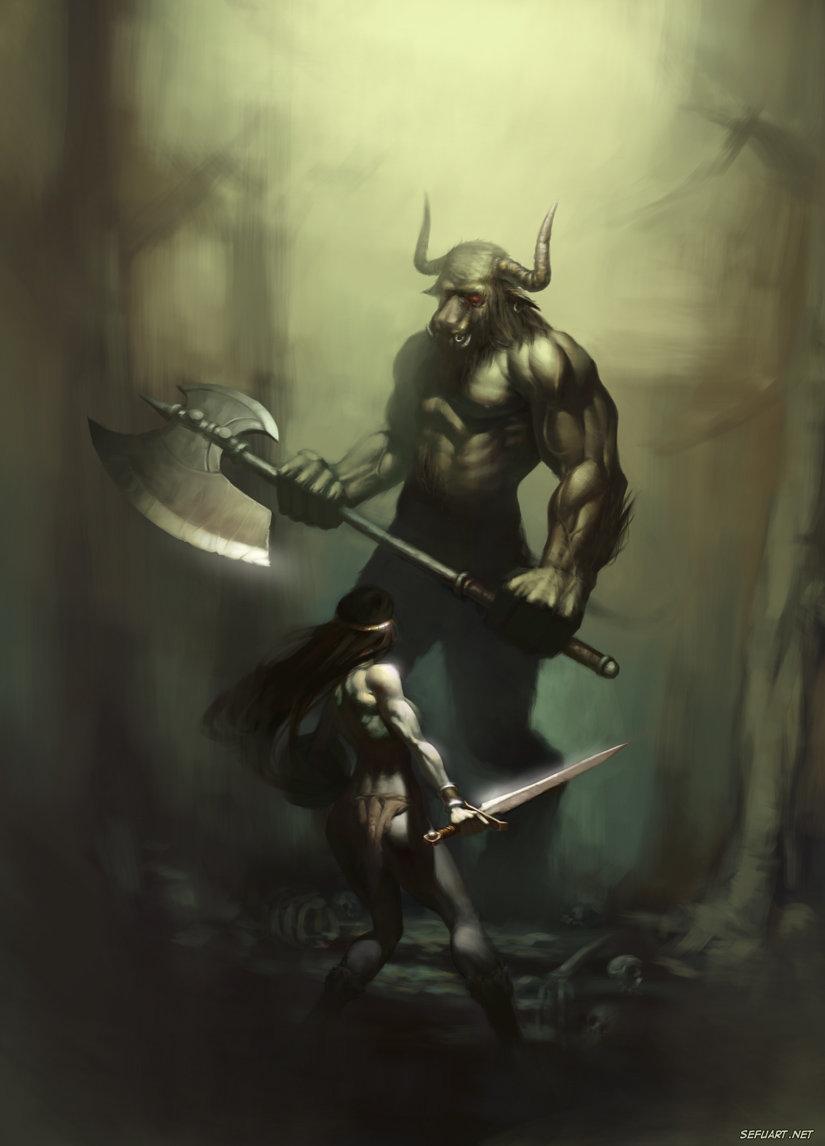 """El Misterio en el centro del laberinto y la bestía aterradora """"El Toro de Minos"""" – Grecia."""