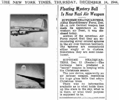 ¿Qué eran los misteriosos «Foo Fighters» avistados por los aviadores nocturnos durante la Segunda Guerra Mundial?