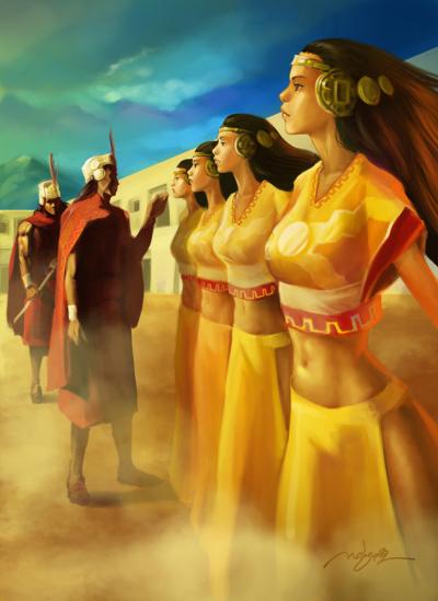 Las Rubias Vírgenes del Sol del Imperio Inca