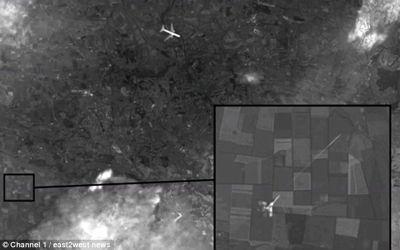Vuelo MH17: Una foto de satélite muestra que el Boeing fue derribado por un avión de combate