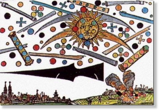 OVNIs en el arte: La batalla de Núremberg de 1561