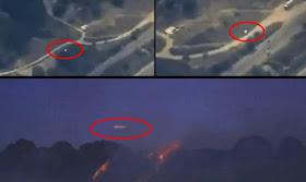 Un Helicoptero de la ABC News Channel 15 Capta impresionante OVNI Sobre los Incendios Forestales en San Bernardino, California