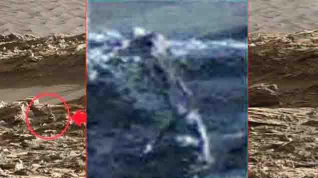 Posible fósil extraterrestre hallado en Marte
