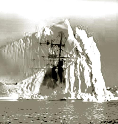 El barco fantasma que emergió del hielo