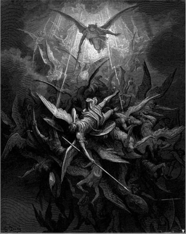 michael casts out rebel angels - Épicas batallas cósmicas y las fuerzas de la creación y la destrucción de los sistemas de creencias de todo el mundo