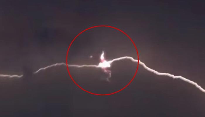Filman ovnis durante una tormenta eléctrica en Córcega (Impactantes fotos y video)