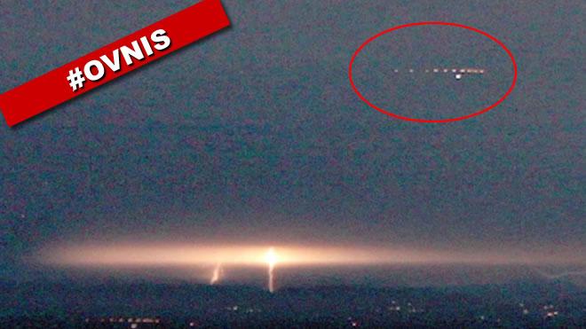 Un increíble avisatamiento OVNI masivo captado en Canadá