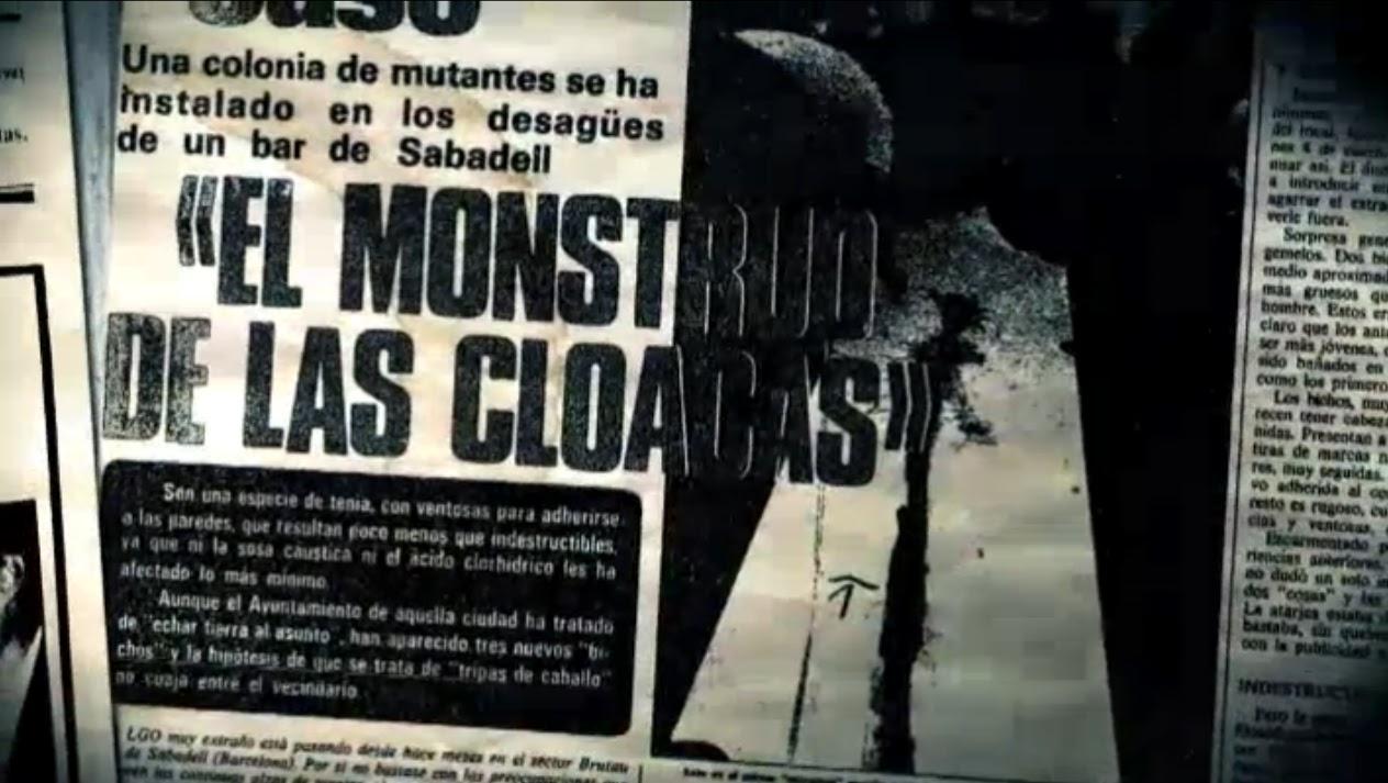 Sabadell un monstruo real en las cloacas