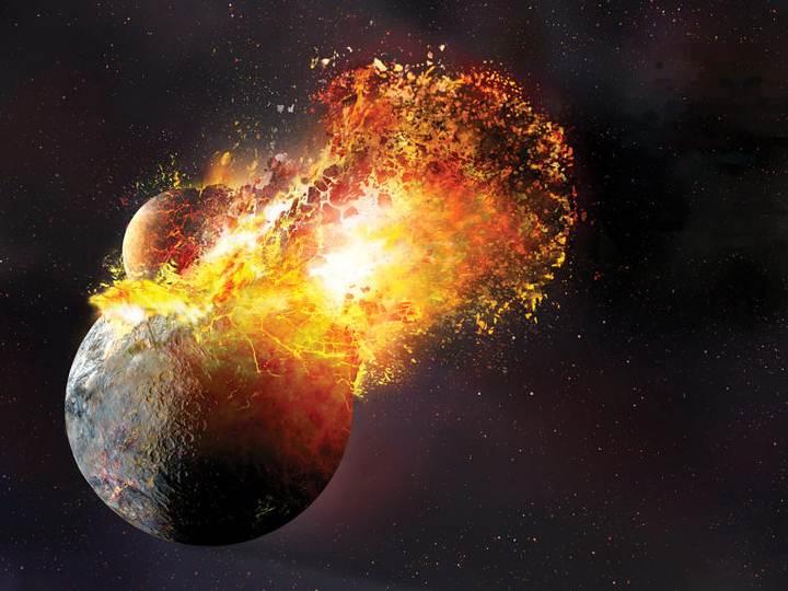 El choque que dio origen a la Luna fue tan violento que la mayor parte de la Tierra se pulverizó