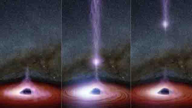 Captan por primera vez, un agujero negro despide algo desde su interior
