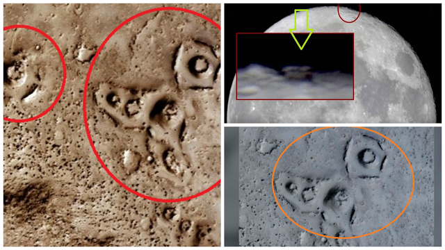 ¿Nuevas Estructuras Alienigenas Encontradas en Marte y la Luna?