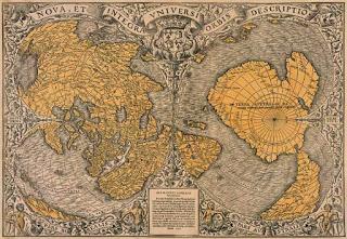 Oronce fine carte - Hechos sorprendentes que demuestran que un cataclismo destruyó avanzadas civilizaciones como la #Atlántida