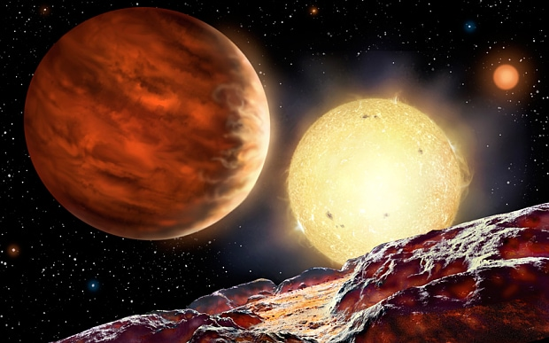 Júpiter no gira alrededor del sol