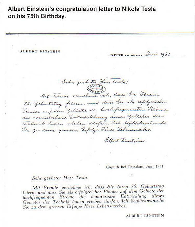 la curiosa e inesperada carta que albert einstein envio a su oponente nicola tesla1 - La curiosa e inesperada carta que Albert Einstein envió a su 'oponente' Nicola Tesla