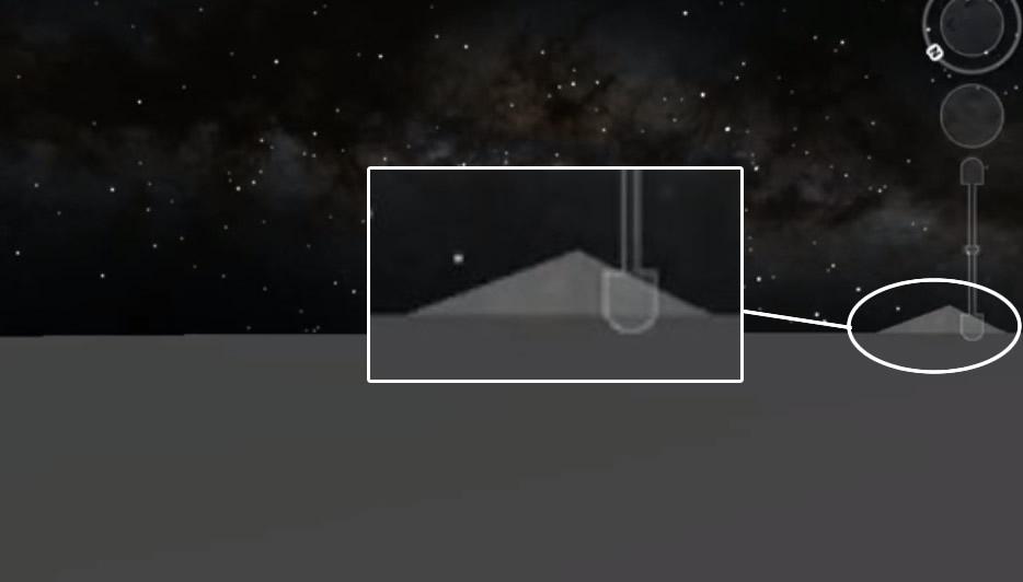 La «Pirámide Perfecta» en la superficie de la Luna