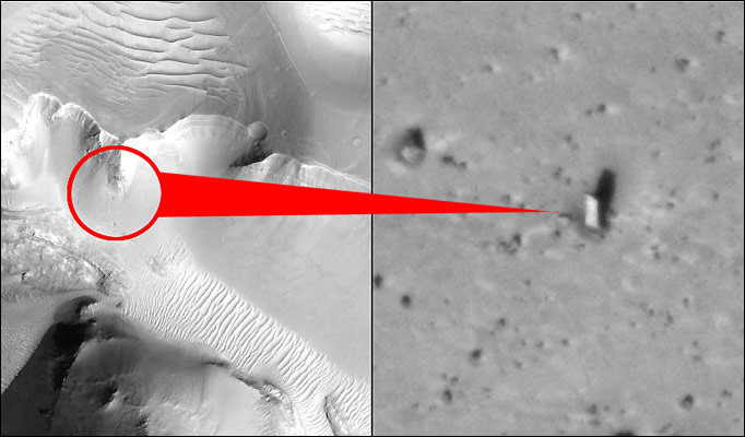 mars monolith - MONOLITOS ANOMALOS EN EL SISTEMA SOLAR