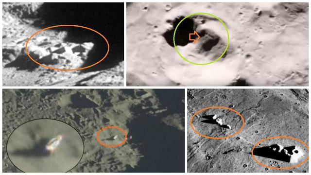 Impresionantes Anomalías y Estructuras UFO Encontradas en Imágenes de la Luna.