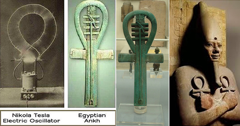 ¿Es el «Ank» o Cruz Egipcia el posible origen del electromagnetismo en el antiguo Egipto?.