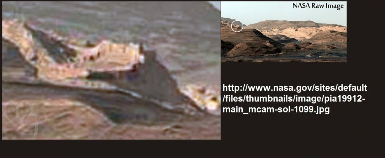 ¿Sería esta la foto de una muralla en Marte?
