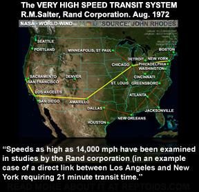 Documentos de la RAND CORPORATION apoyaron la creación de una red de Tubos de Lanzadera en los Estados Unidos de 14.000 Millas por Hora.
