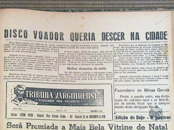 Periódico de 1970 hablaba de la aparición de extraterrestre de Varginha