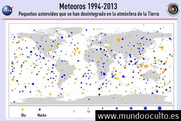 Infografía: El mapamundi de los meteoritos caídos en los últimos 20 años