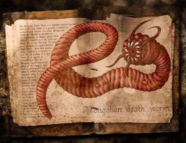 El gusano de la muerte del desierto de Gobi
