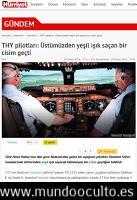 OVNI Luminoso Verde en Ruta de Colisión Aérea en Turquía